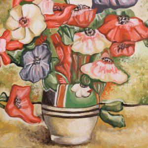 Glastra cu Flori - Tablou reproducere Stefan Luchian