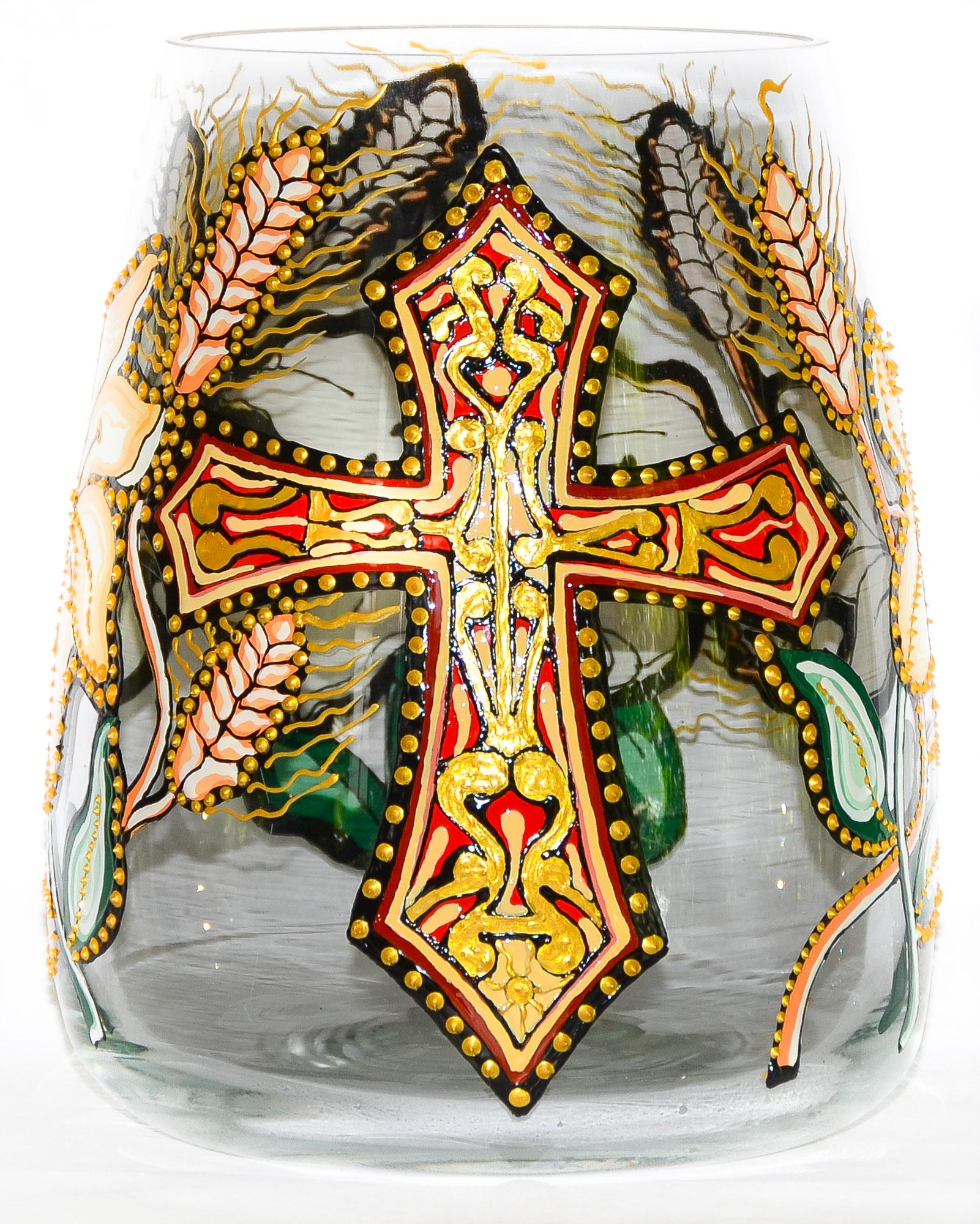 Vaza Pictata cu Motive Religioase