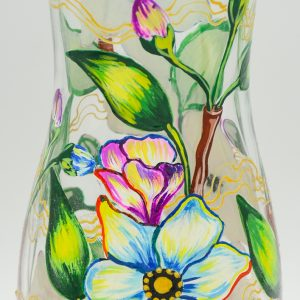 Vaza Pictata cu Flori de Mar