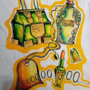 Tricou cu Accesorii Fashion - pictat manual
