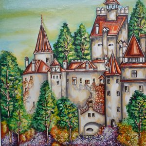 Castelul Bran – Realizat pe panza