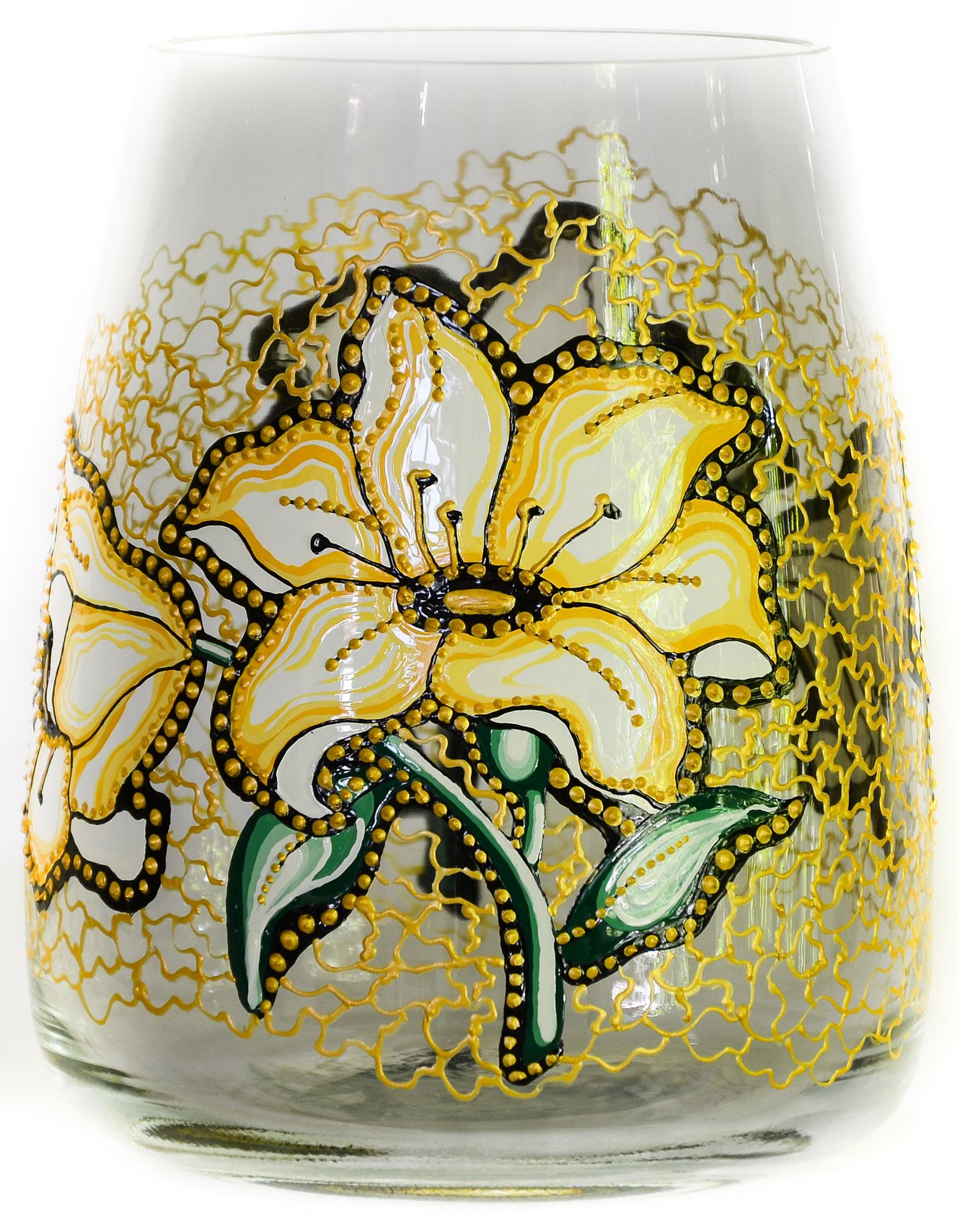 Vaza Pictata cu Crini